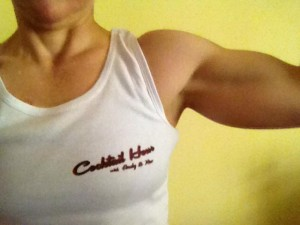 Bev Prescott making our tank top look AWESOME!